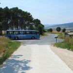 La Pamplonesa bus stop takes you into Pamplona