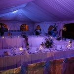 our beach marquee for the wedding reception.....beautiful!