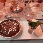 Dessert: Mi cuit au chocolat