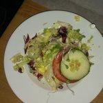 Ekel-Salat mit Plastikspitze vom Dressing