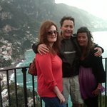 Gianluca took this shot of us on the drive from Sorrento to Amalfi