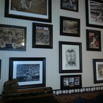 Gentleman's Quarters room with baseball memorabilia