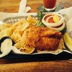 Delicious fried grouper sandwich!