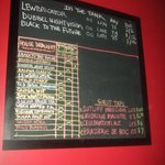 board of beers (and a cider)