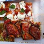 Mozzarella/basilic, auergines
