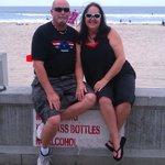 us on the boardwalk in frt of hotel