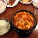spicy seafood soondubu jiggae