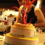 cake display (fake)