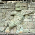 Carving at Copan Ruinas of the Jaguar