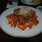 Antipasto di bruschette e pomodoro