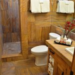 Custom exotic stone bathrooms