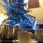 Huge Christmas Tree and Grand Staircase