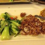 Bok Choy and wild organic brown rice