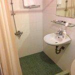 Sink inside shower