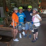 My Sis-in-law, Brother, Boyfriend, and myself ready to Zipline