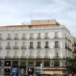 View of hotel from Puerta del Sol