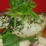 Red Emperor Served on a lime, ginger and coriander salad