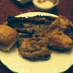 Fried chicken and ribs.