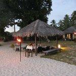 Private dinner in Villa hut on beach - in front of villa