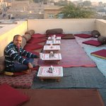 The roof top restaurant