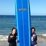 My sister's first time surfing!