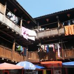 Cluttered living quarters of the Hakkas