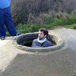 Mathias in a bunker