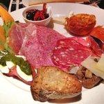 The Appetizer: Antipasto Rustico; Prosciutto di Parma, Tuscany Salami, Rock Melon, Mortadella,