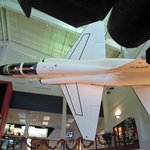 T-38 hanging in the lobby