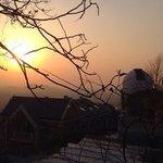 Sonnenuntgang hinter der Sternwarte