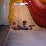 Bouncey Castle and the monster slide was a great deal of fun