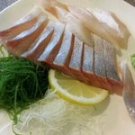 Yummy fresh king fish sashimi