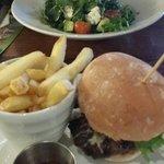 Good burger and salad