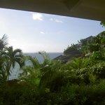 Vue de la terrasse du bungalow