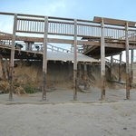 storm damaged pier