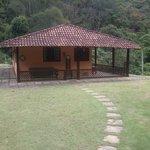Um vista de uma das casas