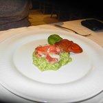 arroz con sabor a langosta albahaca