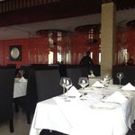 Main dining area and glass booths