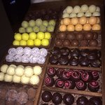 Handmade chocolates to choose from