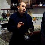 Mohammad teaching us how to make tea