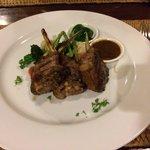 Delicious lamb rack