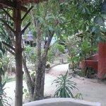 Vue de notre bungalow