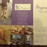 Restaurant Sigmun'd brochure