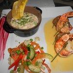 Crab risotto and shrimp