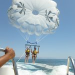 Parasailing!!! (These two went up before us)