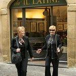 Author Kat Martin and friend Di leave Da iL Latini HAPPY!
