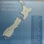 Location of Lighthouses around New Zealand