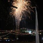 Spontaneous fireworks on the beach