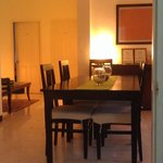 Evening lights- dining & sitting area