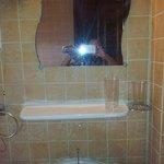 Bathroom. Plastic drinking glasses